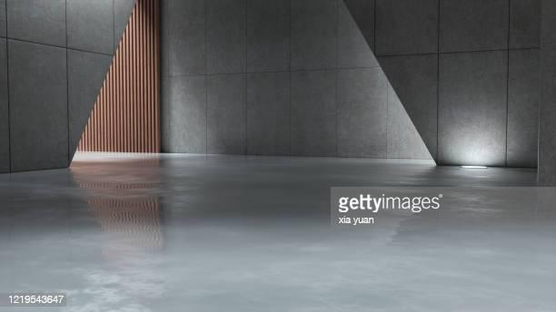 empty hall in a modern building - architektur stock-fotos und bilder
