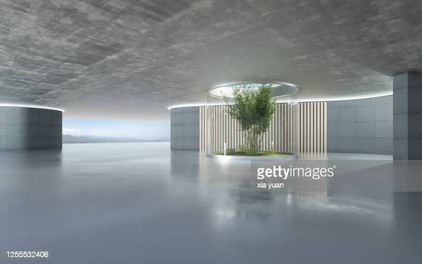 empty hall of modern architectures - architecture stock pictures, royalty-free photos & images