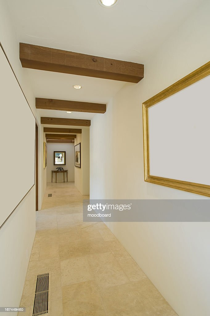 Empty hallway in house : Stock Photo