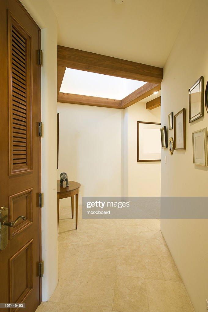 Empty hallway in house : Stock Photo