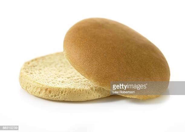 empty hamburger bun - bun stock pictures, royalty-free photos & images