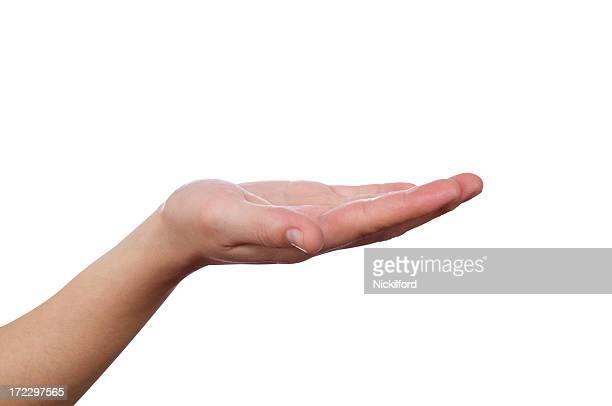 Vazio mão (com Traçado de Recorte