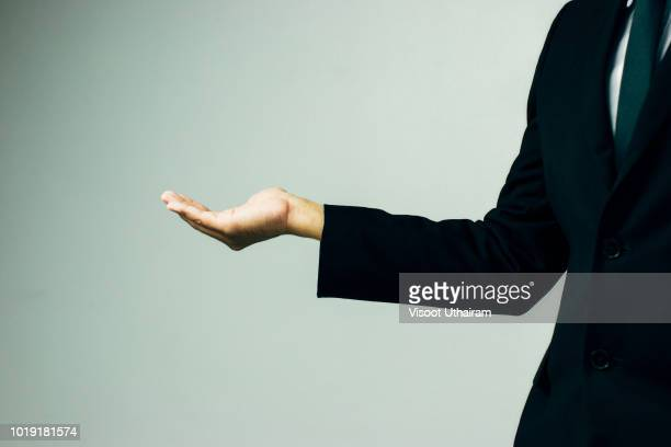 empty hands of business people. - hands cupped stock pictures, royalty-free photos & images