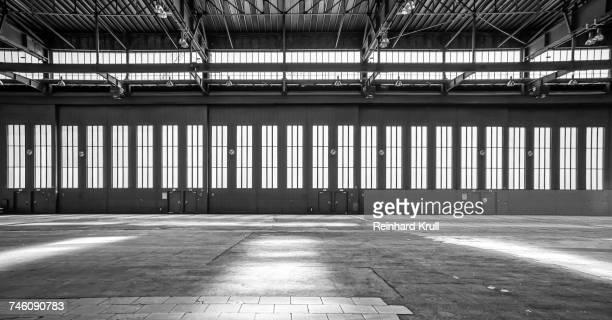 Empty Hangar At Tempelhof Airport