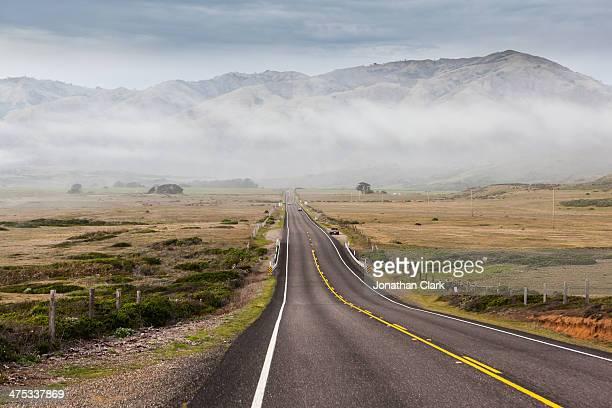 Empty Highway a long the Big Sur coastline