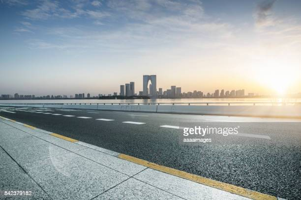 empty highway - dividing line road marking stock photos and pictures