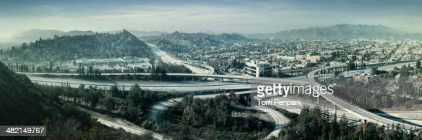 empty highways, glendale, california, united states - san fernando california stock photos and pictures