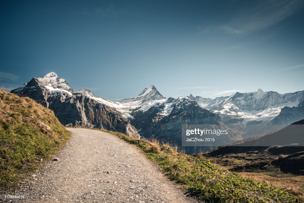 Empty Hiking road : Stock-Foto