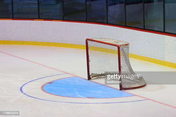 Empty Hockey goal in Arena