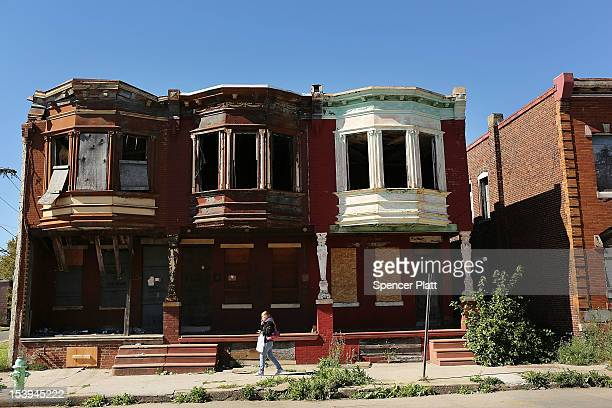 Empty homes are viewed on October 11, 2012 in Camden, New Jersey. According to the U.S. Census Bureau, Camden, New Jersey is now the most...
