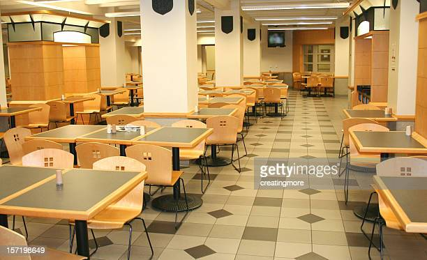 Empty hospital cafeteria after hours