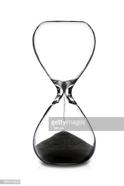 empty hourglass - countdown stock pictures, royalty-free photos & images