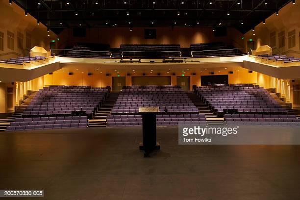 Empty illuminated auditorium