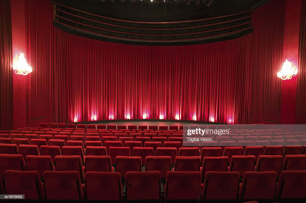 Empty Illuminated Theatre : Stock Photo