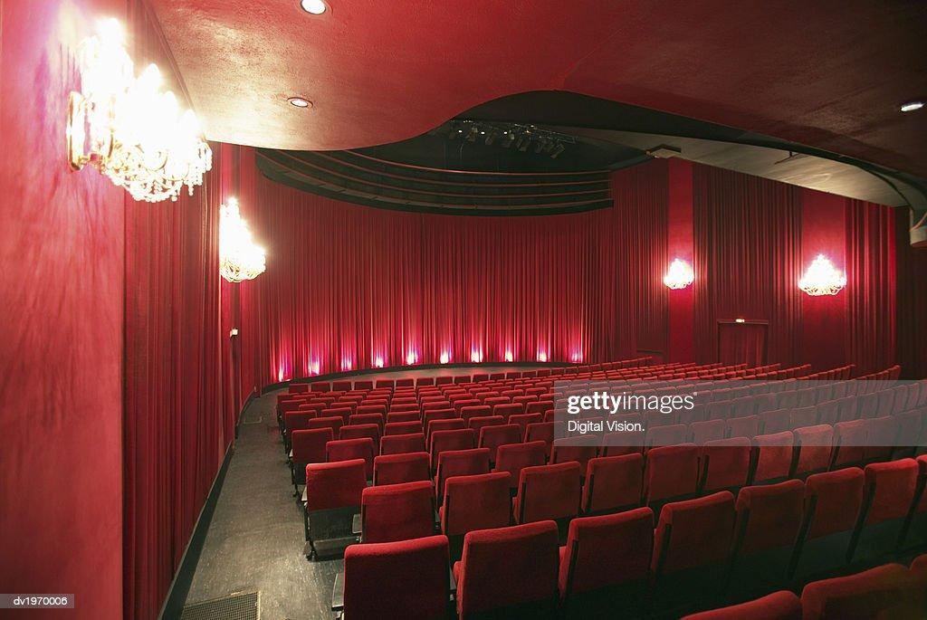 Empty Illuminated Theatre : Stock Photo