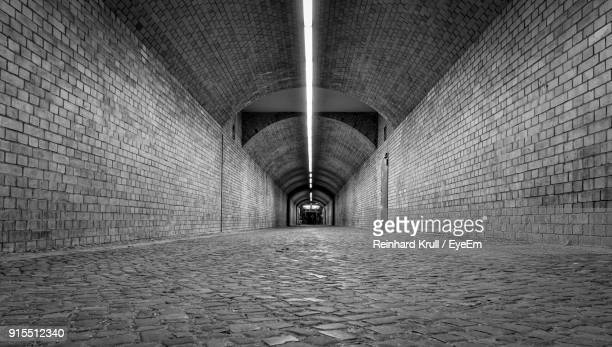 Empty Illuminated Tunnel
