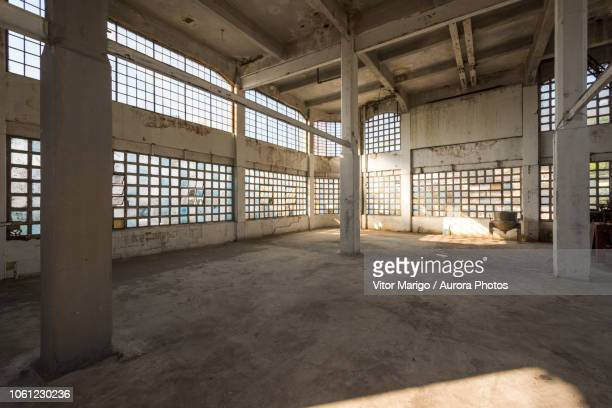 empty industrial building, bhering factory, santo cristo, rio de janeiro, brazil - abandoned stock pictures, royalty-free photos & images
