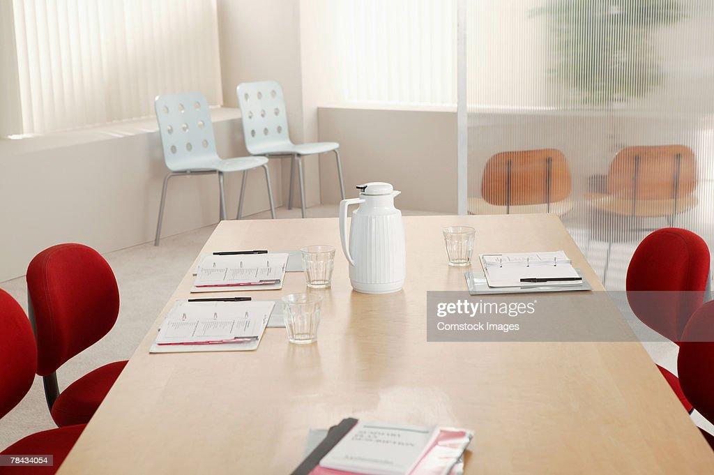 Empty interior of conference room : Stockfoto