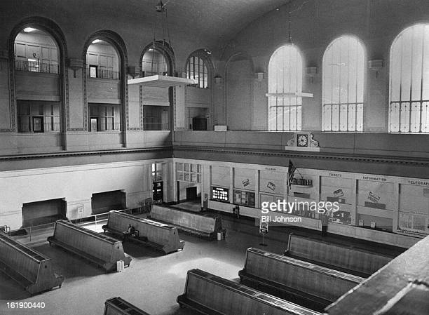 FEB 1 1980 MAR 9 1980 APR 20 1981 Empty Interior Of Once Bustling Station Accommodates