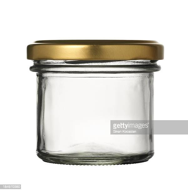 Empty jar of caviar