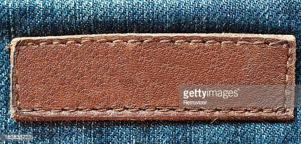Empty jeans label