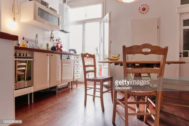 Empty kitchen of a flat