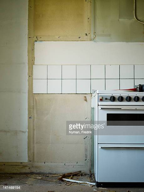 Empty kitchen with cooker