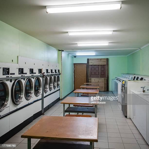 Empty Laundromat Interior