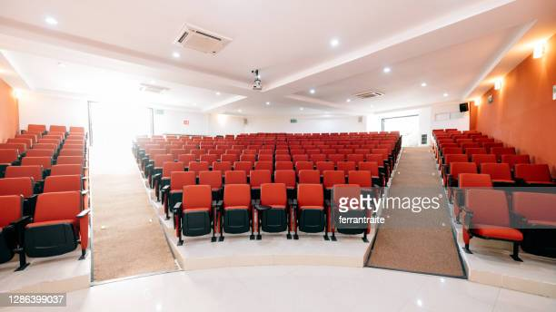 empty lecture hall - audience free event stock pictures, royalty-free photos & images