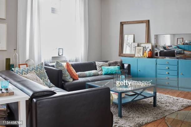 empty living room at home - hygge stock pictures, royalty-free photos & images