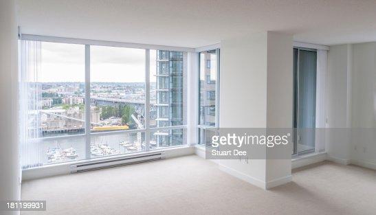 wonderful empty apartment living room | Empty Living Room New Condo Apartment Stock Photo | Getty ...