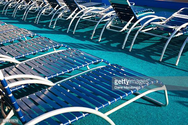 Empty lounge chairs