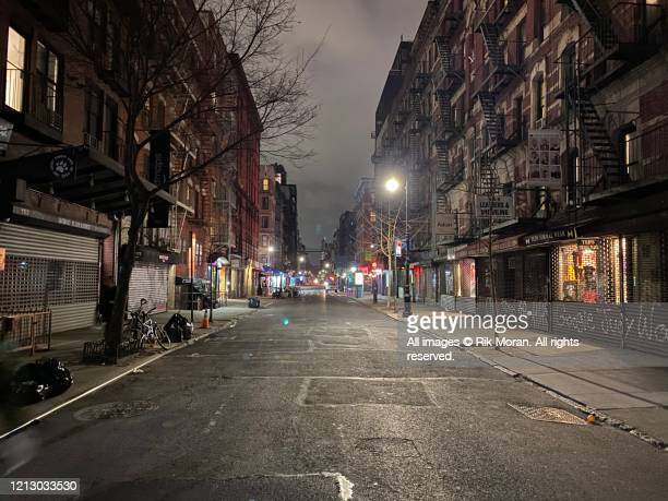 empty lower east side - lockdown stock pictures, royalty-free photos & images