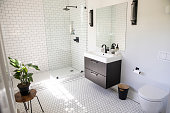 Empty Luxury Bathroom