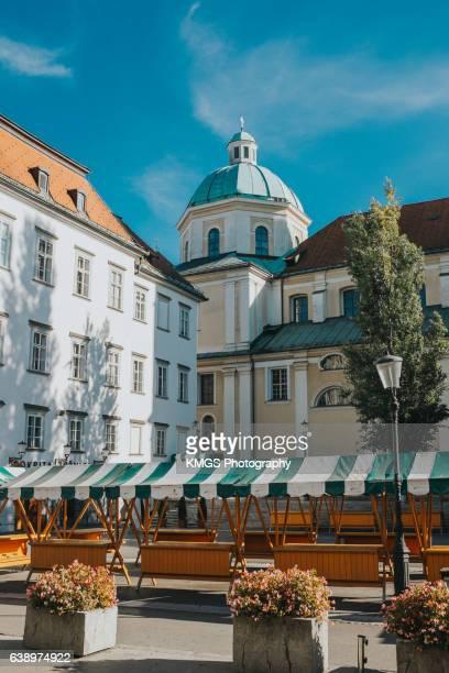 Empty Market Place, Ljubljana