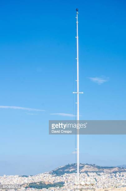 Empty mast