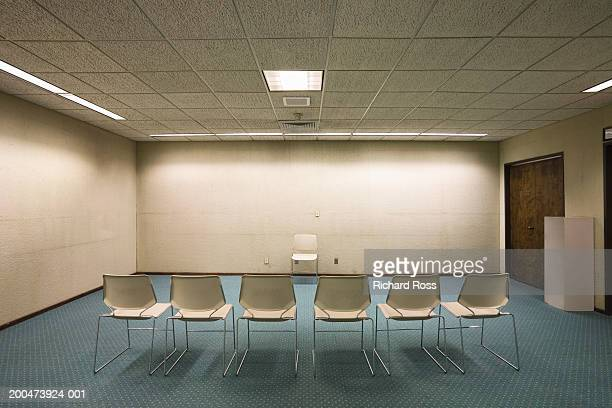 Empty meeting room with chairs
