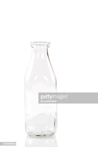empty milk bottle - milk bottle stock pictures, royalty-free photos & images