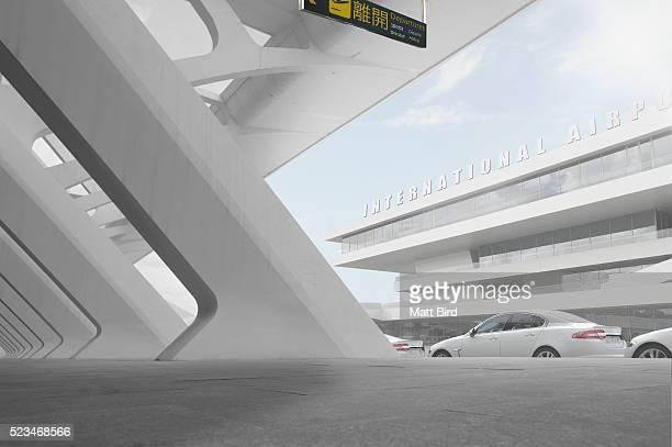 Empty modern airport building