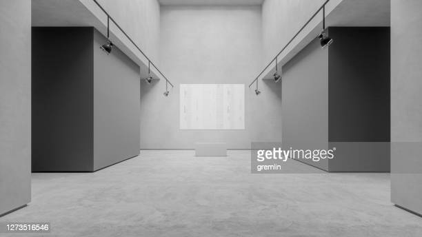 empty modern art gallery - art gallery stock pictures, royalty-free photos & images