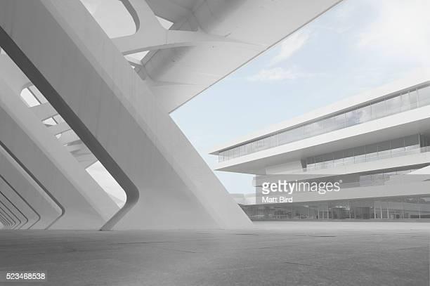 Empty modern building interior