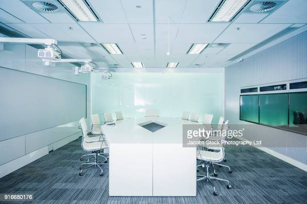 empty modern conference room - board room stock pictures, royalty-free photos & images