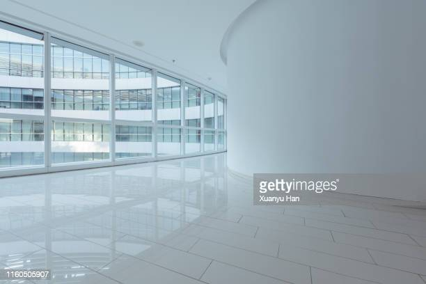 empty modern interior background - corridor stock pictures, royalty-free photos & images