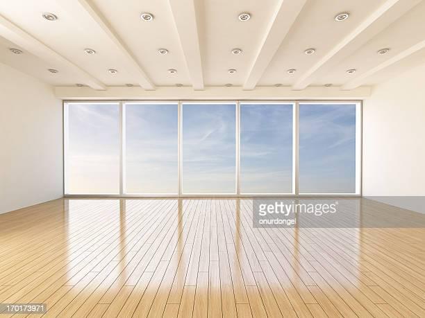 Vacío Interior moderno de sala de estar