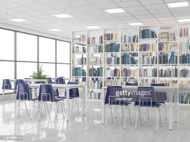 空の近代図書館 - 図書館 ストックフォトと画像