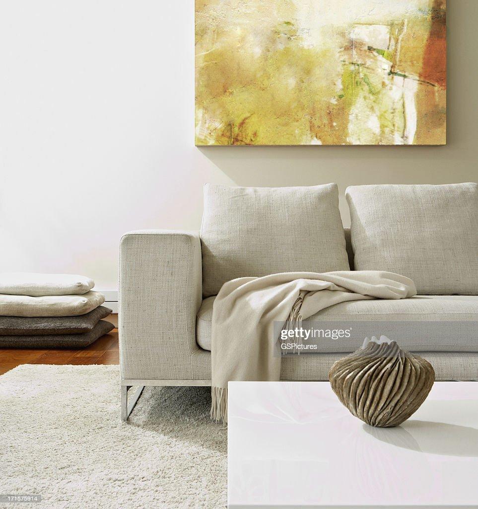 Empty modern living room : Stock Photo