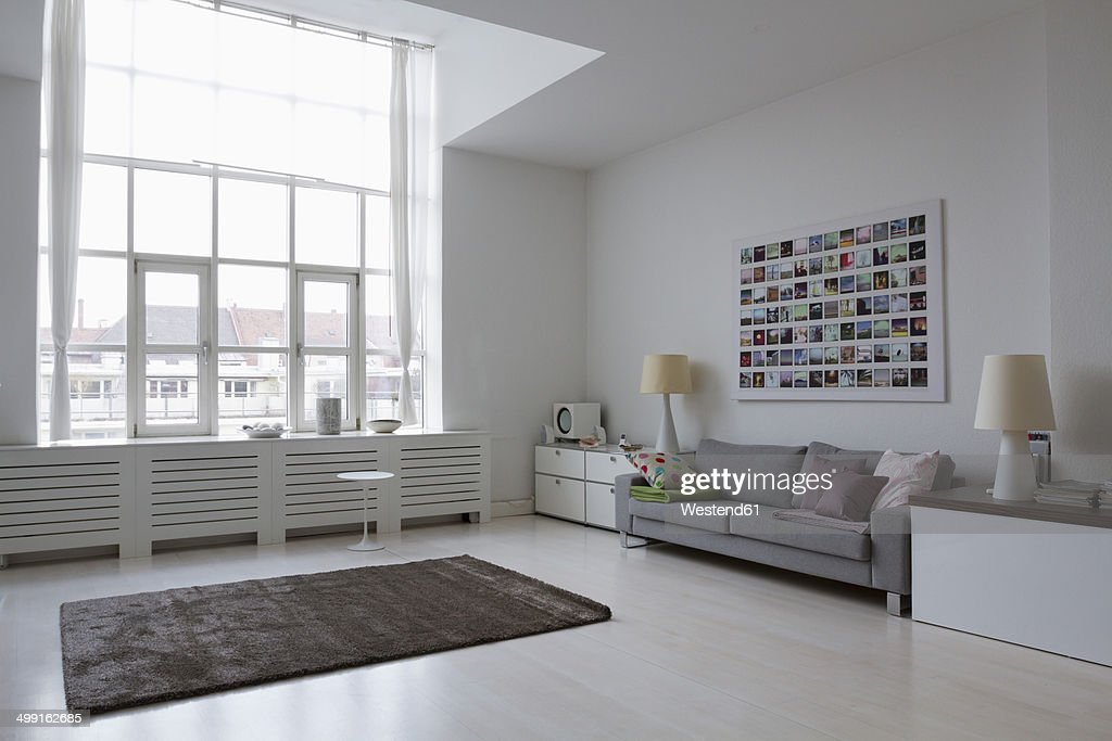 Empty Modern Living Room Stock Photo | Getty Images