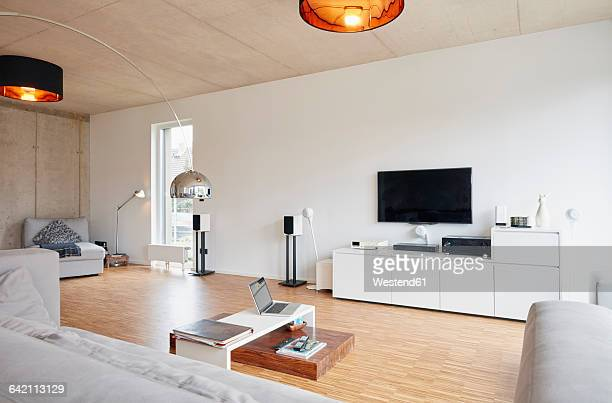 Empty modern living room