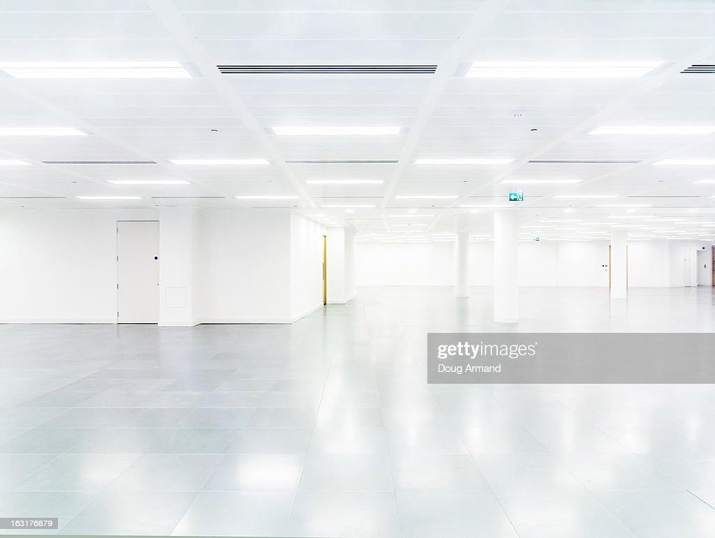 Empty modern office interior : Stock Photo