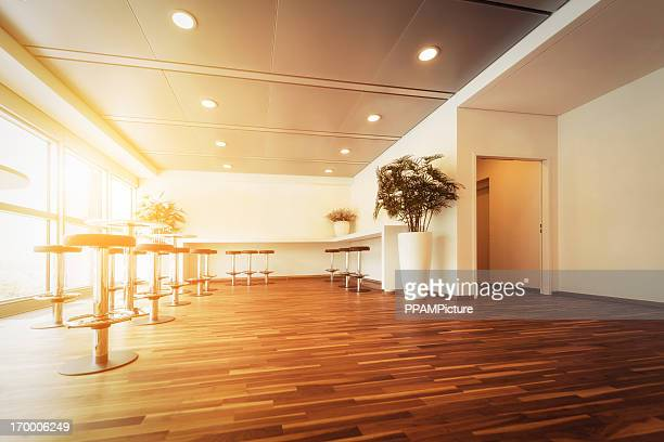 Empty modern office reception